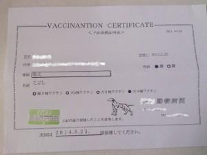 予防注射証明書2